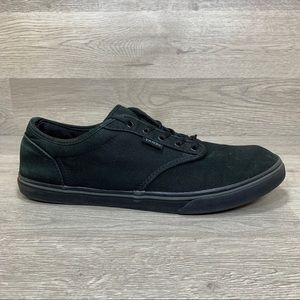 Vans Off The Wall Black Canvas Skateboarding Shoes